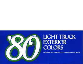 1980 Ford Light Truck Colors