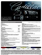 2009 Cadillac Escalade Spec Sheet