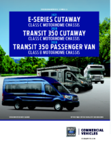 2020 Ford E-Series-Transit 350 Motorhome Chassis