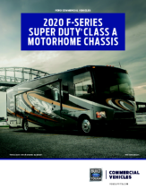 2020 Ford F-Series Super Duty Class A Motorhome Chassis