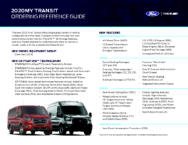 2020 Ford Transit Ordering Reference Guide