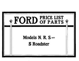 1907 Ford Parts List 2