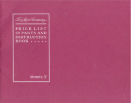 1909 Ford Model T Parts List (Aug)