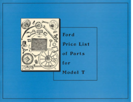 1909 Ford Model T Parts List