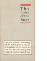 1909 Ford The Story Of The Race
