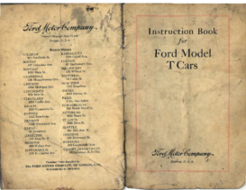 1911 Ford Model T Instruction Book