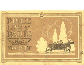 1914 Ford Model T Parts List (Oct)