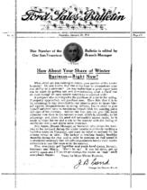1914 Ford Sales Bulletin (Jan)