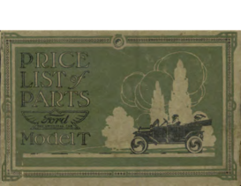 1915 Ford Parts List (Aug)