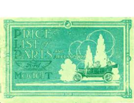 1916 Ford Parts List (Nov)