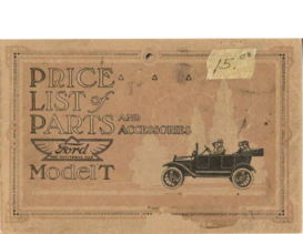1917 Ford Parts List (May)