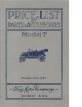 1917 Ford Parts List (Oct)