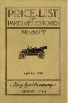 1918 Ford Parts List (Apr)