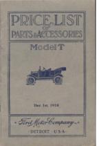 1918 Ford Parts List (Dec)
