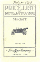 1918 Ford Parts List (Jul)