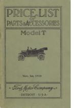 1918 Ford Parts List (Nov)