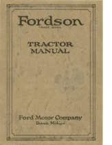1920 Ford Fordson Tractor Manual