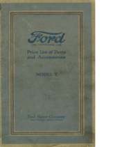 1920 Ford Parts List (Aug)