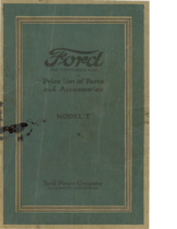 1920 Ford Parts List (May)