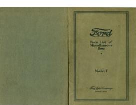 1921 Ford Parts List (Dec)