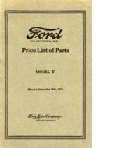 1922 Ford Parts List (Dec)