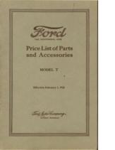1922 Ford Parts List (Feb)