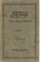 1922 Ford Parts List (Oct)