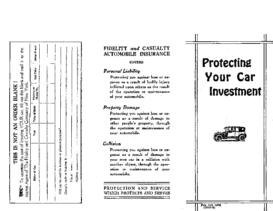 1923 Car Insurance Flyer