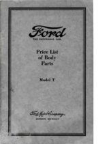 1923 Ford Body Parts List (Sep)