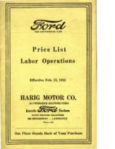 1923 Ford Labor Price 2