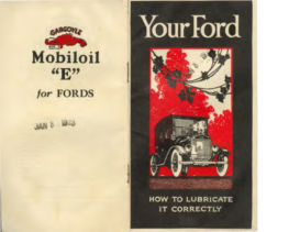 1923 Ford Lube Directions