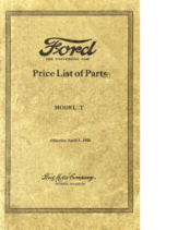 1923 Ford Parts List (Apr)
