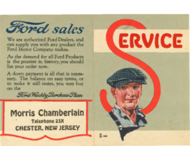 1923 Ford Sales & Service Flyer