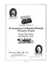 1923 Frontenac Catalog For Ford