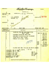 1925 Ford Invoices