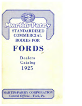 1925 Martin-Parry Bodies For Ford