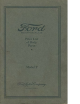 1926 Ford Body Parts List (May)