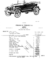1926 Ford Invoice