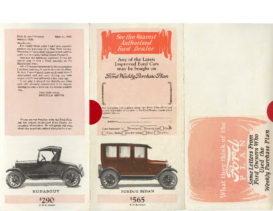 1926 Ford Purchase Plan Letters