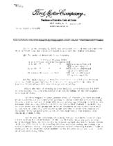 1927 Ford Dealer Letters