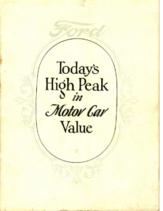 1927 Ford Motor Car Value