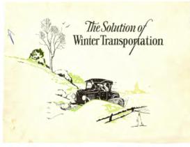 1927 Ford Snowmobiles