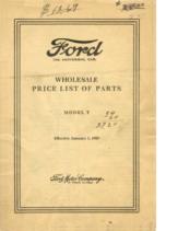 1927 Ford Wholesale Parts List (Jan)