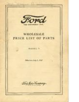 1927 Ford Wholesale Parts List (Jul)