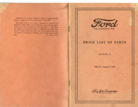 1928 Ford Parts List (Aug)