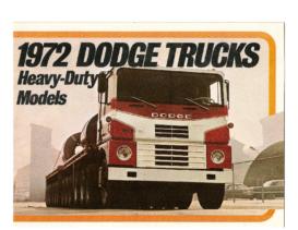 1972 Dodge Heavy Duty Trucks