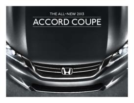2013 Honda Accord Coupe Fact Sheet