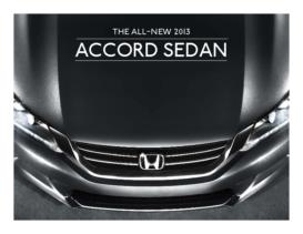 2013 Honda Accord Sedan Fact Sheet