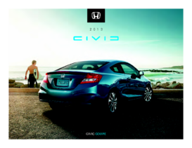 2013 Honda Civic Coupe Fact Sheet