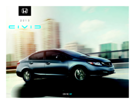 2013 Honda Civic HF Fact Sheet